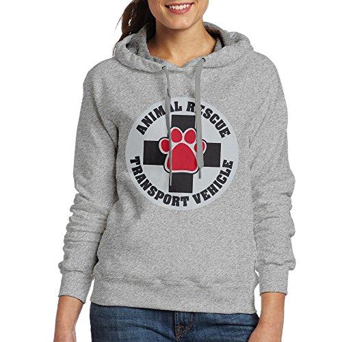 Bekey Women's Animal Rescue Transport Vehicle Hoodie Jacket M - Me Toms Shop Near