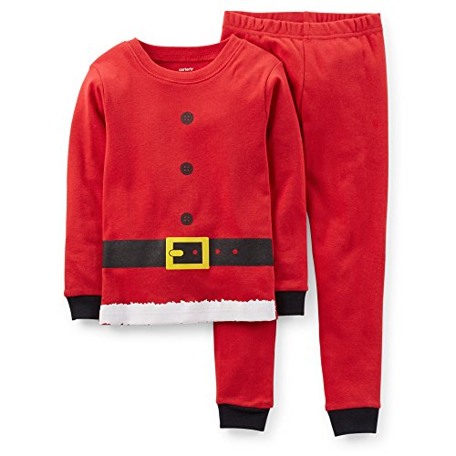 Carter's Baby Boys' Christmas 2-Piece Snug Fit Cotton PJs (12 Months, Red -