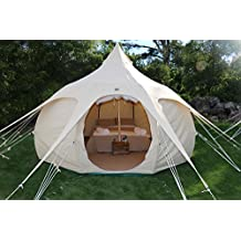 Lotus Belle 13Ft Outback Yurt Tent Perfect For Gl&ing All Seasons Canvas Made Of Heavy Duty Cotton  sc 1 st  Amazon.com & Amazon.com: Lotus Belle Tents