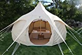 Lotus Belle 13Ft Outback Yurt Tent, Perfect For Glamping, All Seasons Canvas Made Of Heavy Duty Cotton Review