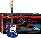 Squier Stop Dreaming-Start Playing Set: Affinity J Bass w/ Rumble 15 Amp, Metallic Blue