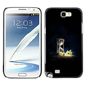 Ihec Tech Sand Clock Sandcastle Castle Sand / Funda Case back Cover guard / for Samsung Note 2 N7100