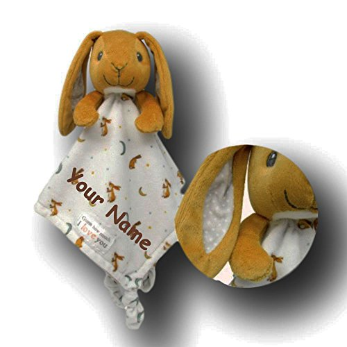 Kids Preferred Personalized Guess How Much I Love You Nutbrown Hare Snuggle Blanky Blanket - 14 Inches