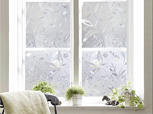 Bloss Window Film Decorative Window Films Window Clings Window Shades Window Decals Window Tint Privacy Windows Film, 17.7 by 78.7 inches by Bloss