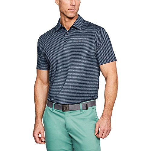 Price comparison product image Under Armour Men's Playoff Polo,  Academy (431) / Rhino Gray,  Large