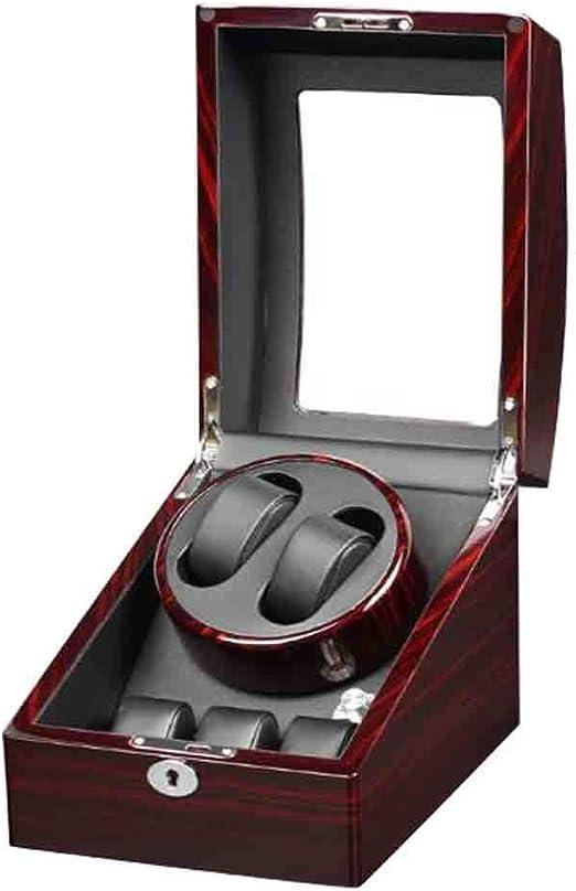 Caja Doble Reloj Winder Box Caja Vitrina Almacenamiento Relojes AutomáTicos con 3 Almacenamientos Y Reloj Motor Silencioso Y Joyas Regalo Grande (Color: A): Amazon.es: Hogar