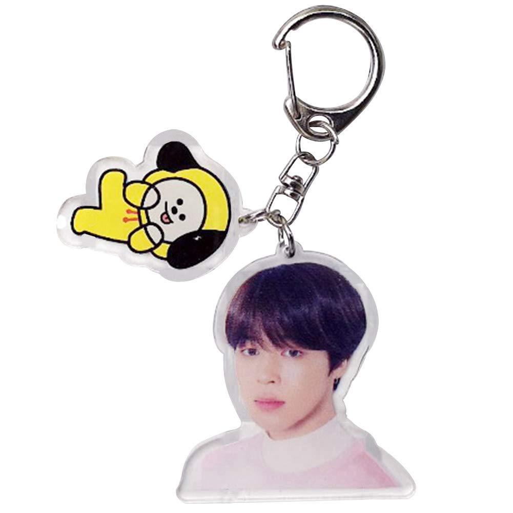 KroY PecoeD Kpop BTS Bangtan Porte-cl/és en acrylique m/étallique pour Keychain Cadeau chaud pour A.R.M.Y Style 01-suga