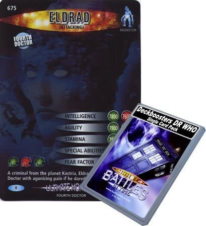 Doctor Who - Single Card : Ultimate Monsters 075 (675) Eldrad Attacking Dr Who Battles in Time Rare Card by Deckboosters: Amazon.es: Juguetes y juegos