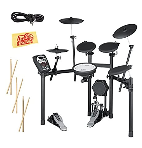 Roland TD-11K V-Drums Electronic Drum Kit with Drum Stick Sampler, Audio Cable, and Austin Bazaar Polishing (Roland Electronic V Drums)
