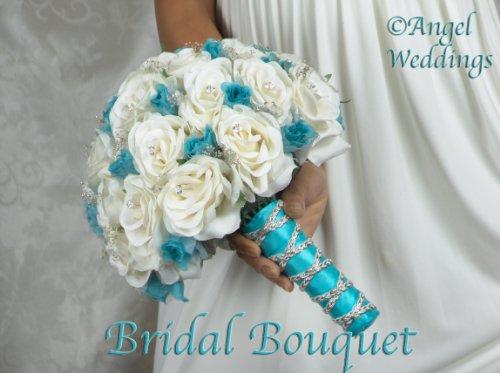 BEAUTIFUL-SHANTI-MALIBU-Complete-Wedding-Package-Bridal-Bridesmaid-Groom-Corsage-silk-flowers