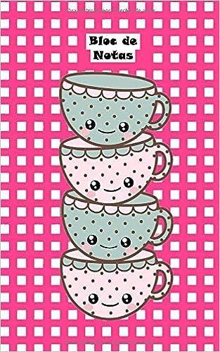 Bloc de Notas: Lindas tazas de té, kawaii Cuaderno Notas ...