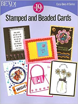 Book Stamped And Beaded Cards (Easy-Does-It)