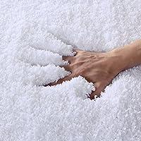 Norcho 31' x 19' Soft Shaggy Bath Mat Non-slip Rubber Bath Rug Luxury Microfiber Bathroom Floor Mats Water Absorbent White