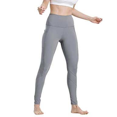 9be9a9b05d882 RUIRUILICO Couleur Unie Femme Leggings de Sport Pantalon Yoga Femmes  Pantalon Cigare Jogging Fitness Gym en