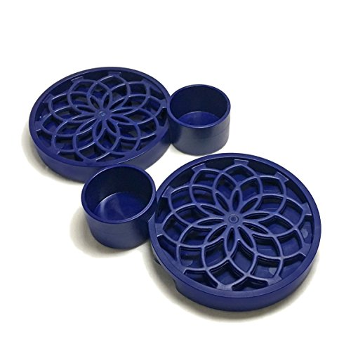 Living Coaster - Grow Plants with Condensation! 2-Pc Set (Navy)
