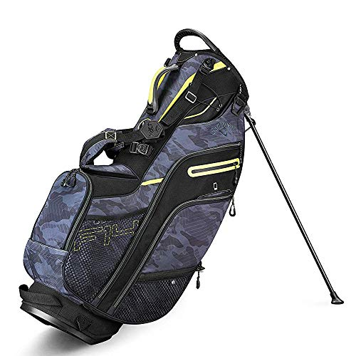 - Callaway Golf 2019 Fusion 14 Stand Bag, Black Camo/Neon Yellow
