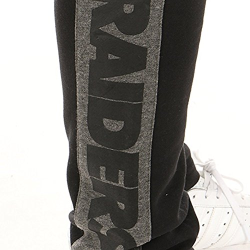 Pantaloni Majestic – Nfl Oakland Raiders Fleece Open Hem Jog nero formato: L (Large)
