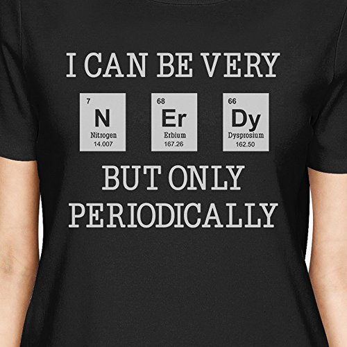 Taille Courtes 365 Unique Manches Black Periodically Printing shirt T Nerdy Femme qw1YRP