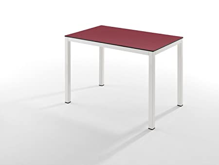 Oihan Shop - Mesa Comedor Comp. 120X80 Burdeos/Blanco: Amazon.es ...