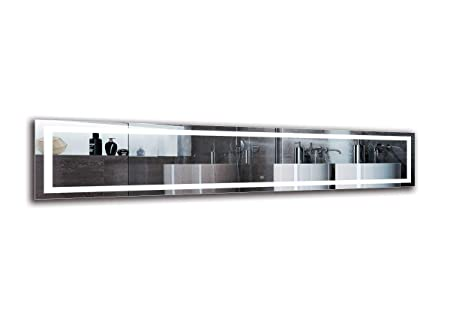Interruptor tactil Espejo LED Deluxe Espejo con iluminaci/ón ARTTOR M1CD-22-40x40 Dimensiones del Espejo 40x40 cm Espejo de ba/ño con iluminaci/ón LED Blanco c/álido 3000K Espejo de Pared