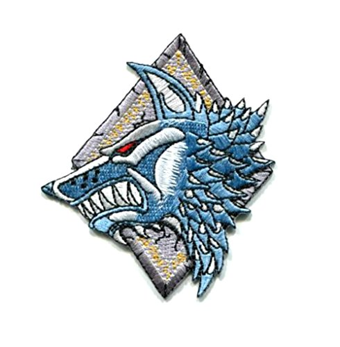 """Price comparison product image Blue Heron Warhammer 40K Space Wolves 3.5"""" X 3"""" Logo Embroidered Iron / Sew-on Applique Patch"""