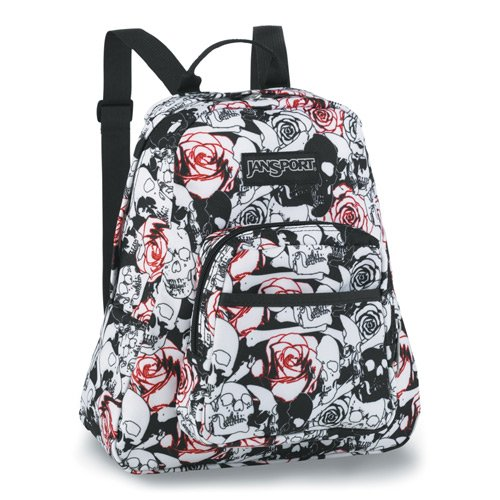 JanSport Women s Half Pint Backpack (Black White Skulls N Roses SM)   Amazon.ca  Sports   Outdoors 5c844dd829735