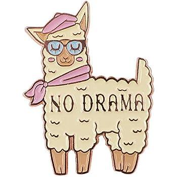 Amazing No Drama Llama Enamel Cute Pin