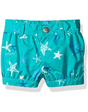 Baby Girls' Starfish Print Bubble Short