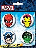 Ata-Boy Marvel Comics Classic Character 4 Button Set