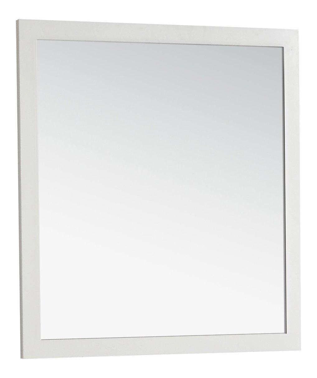 Simpli Home Chelsea Bath Vanity Mirror, 32 by 34-Inch, Soft White