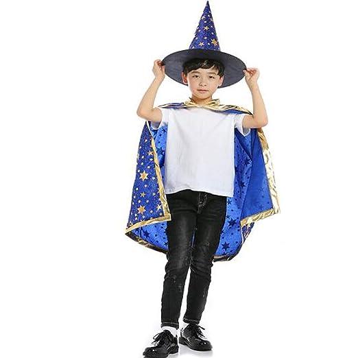 SD Capa de Mago para niños de Halloween, Traje de Asistente ...