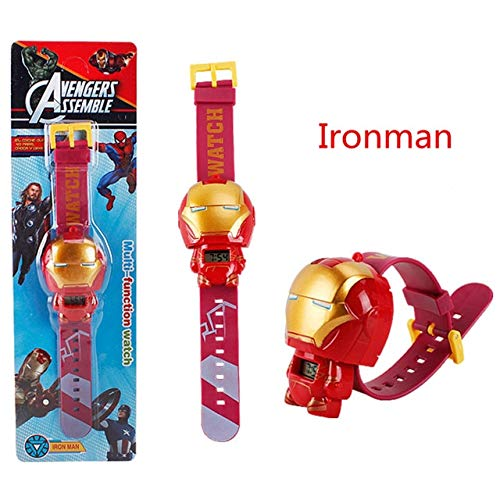 (Pitaya. The 3 Electric Kids Boy Watch Man Spider Man Figure Model Toys for Birthday Gift -Collectable Movies Comics Gamerverse Superheroes)