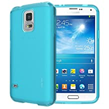TUDIA Ultra Slim LITE TPU Bumper Protective Case for Samsung Galaxy S5 ** ONLY Compatible with Samsung Galaxy S 5 Wireless Charging Battery Cover** (Teal)