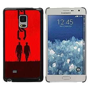 LECELL -- Funda protectora / Cubierta / Piel For Samsung Galaxy Mega 5.8 9150 9152 -- Two Men Western --