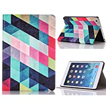 Changeshopping(TM)Colored Squares Flip Stand Leather Case Cover For iPad Mini 1 2 3 Retina