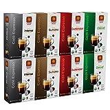 Nespresso Compatible Copper Moon Coffee Espresso, Intense, Guatemalan, Sumatra, Decaf Variety Pack, Fits in Nespresso Original Line, 80 Capsules