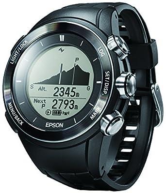 ede44ed85e Amazon | [エプソン リスタブルジーピーエス フォー トレック]EPSON Wristable GPS for Trek 腕時計 ランニング  登山用 GPS 3D標高ナビゲーション MZ-500B | メンズ ...