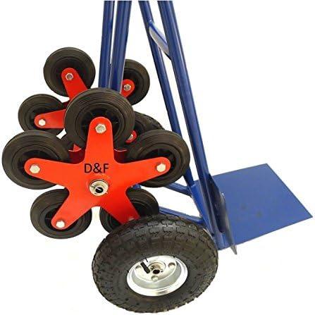 Carrello portatutto con rotelle per scale 200 kg rotella aggiuntiva a forma di stella in acciaio con 5 ruote per scale