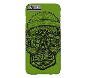 9 Eyed Skull iPhone 6 Plus Avocado Barely There Phone Case - Design By Humans wangjiang maoyi