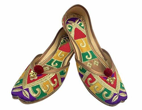 Schritt N Style Damen Leder und Schaumstoff jutti Schuhe Mehrfarbig