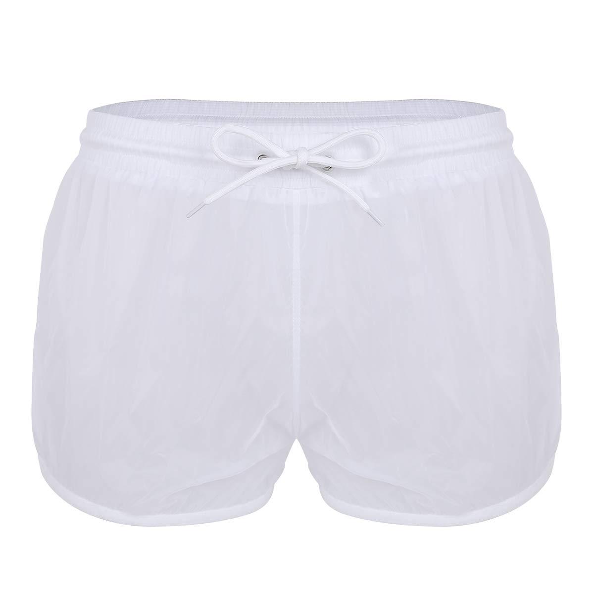 YiZYiF Men's See Through Beach Shorts Underwear Swim Trunks Watershort Lounge Pants