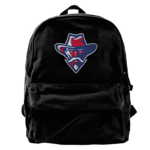 (Ole Miss Rebel Black Bear Boys And Girls Large Vintage Canvas Backpack School Laptop Bag Hiking Travel Rucksack)