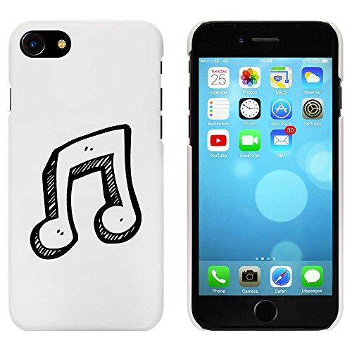Blanc 'Note de musique' étui / housse pour iPhone 7 (MC00087717)