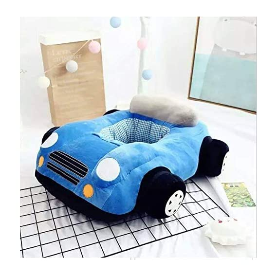 SHOPTRIC India Car Shape Baby Soft Plush Cushion Baby Supporter Sofa Seat,Baby Seating Traning Seat OR Rocking Chair for
