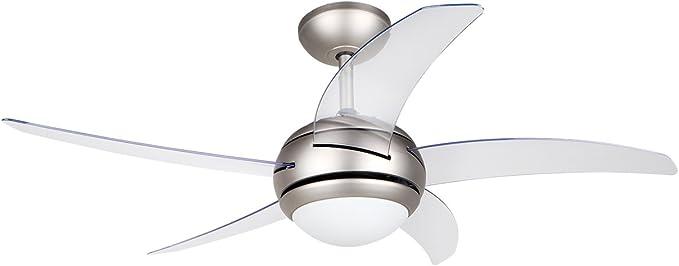 Color: Blanco 1300 Lumen Orbegozo Ventilador de Techo CP 106132 con luz LED Blanca incorporada 18W Silencioso Clase A+ Di/ámetro 132 cm