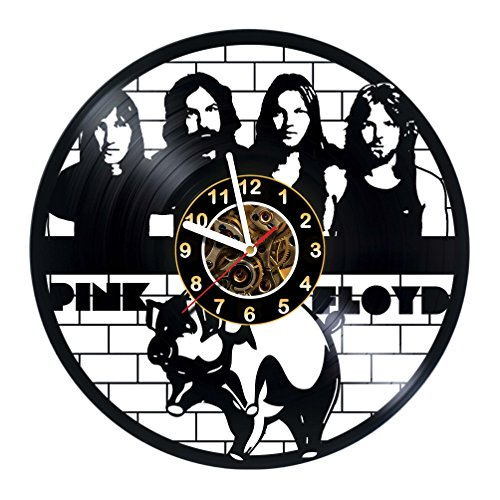 Pink Floyd Vinyl Record Wall Clock – Poster – Sticker – Christmas – Wall Decor – Wall Art – Get unique Living Room the WALL decor – Gift ideas for teens, men and women Unique Modern Wall ART