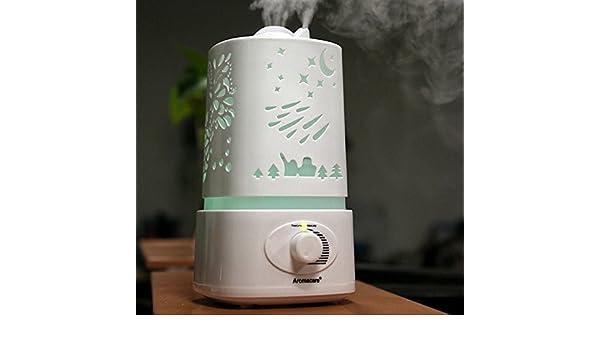 De aire humidificadores humidificador de ultrasonidos vapor frío de fragancia y difusor del Aroma, No ruido apagado automático para su hogar y oficina: ...