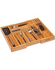 Kitchen Utensil Tray Drawer Organizer, Silverware Tray for Drawer,Cutlery Organizer, Flatware Holder,Office Storage Organizers,Knife Makeup Desk Drawer Dividers Insert