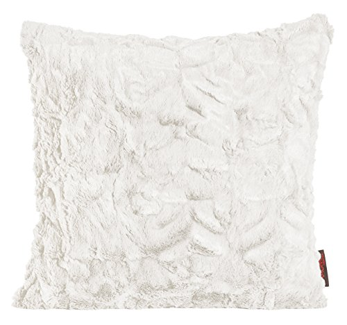 Magma Kissen Fluffy Plüsch Felloptik ca. 45x45cm vers. Farben (weiss (natur))