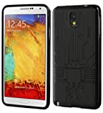 Galaxy Note 3 Case, Cruzerlite Bugdroid Circuit TPU Case Compatible for Samsung Galaxy Note 3 - Black